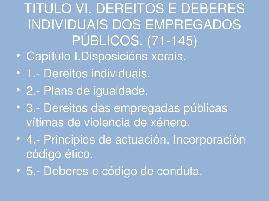 A reforma do emprego público en Galicia: reflexións sobre as principais características do proxecto